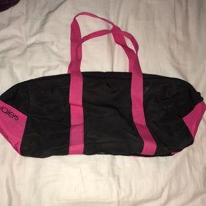 Retro Bloomingdales Duffle Bag New black and pink